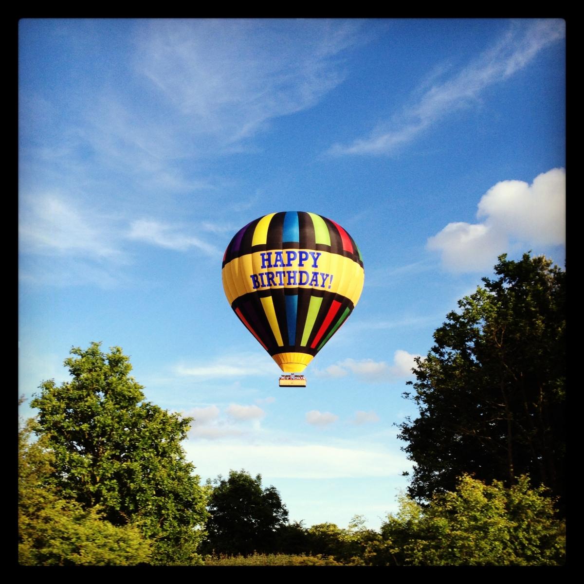 Balloon over the A12