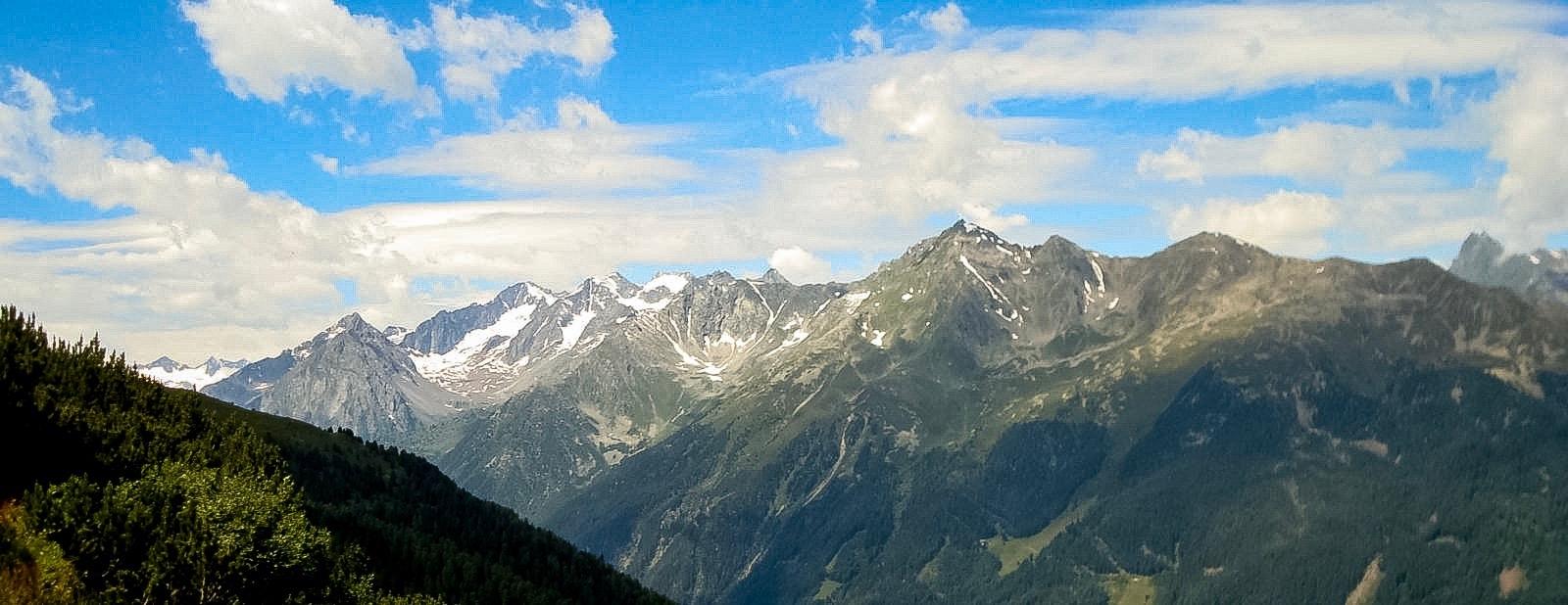 View from the Stubai Alps, Austria
