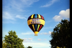 Balloon over the A12